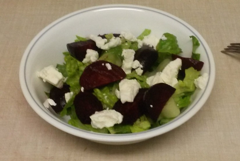 CSA Recipe #3 – Roasted Beet and Goat Cheese Salad