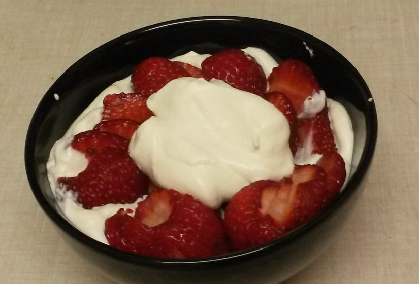 CSA Recipe #5 – Strawberries and Cream